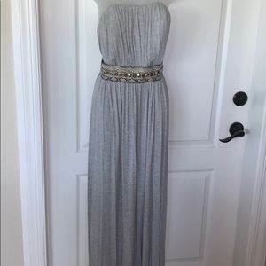 NWOT Boston Proper gray Maxi dress with belt